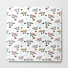 aeroplanes Prints patterns Metal Print