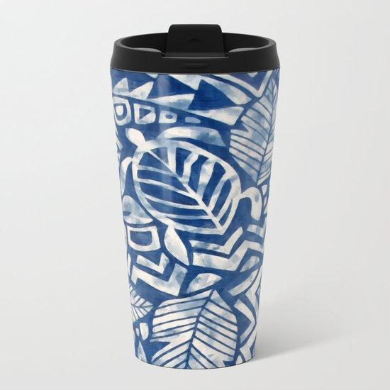 Hawaiian tribal pattern Metal Travel Mug