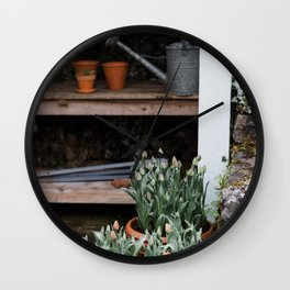 Spring Garden Shed Wall Clock