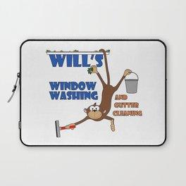 Wills Window Washing Logo Laptop Sleeve