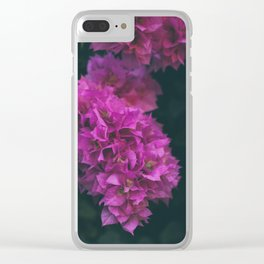 Bougainvillea Flower Clear iPhone Case