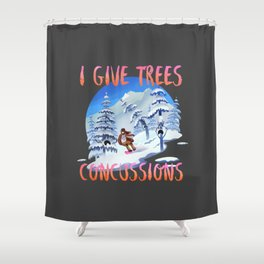 Snowboard Steve - I give trees concussions Shower Curtain