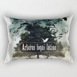 arbores loqui latine Rectangular Pillow