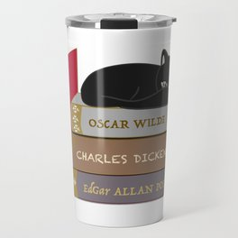 Dark literature meow Travel Mug