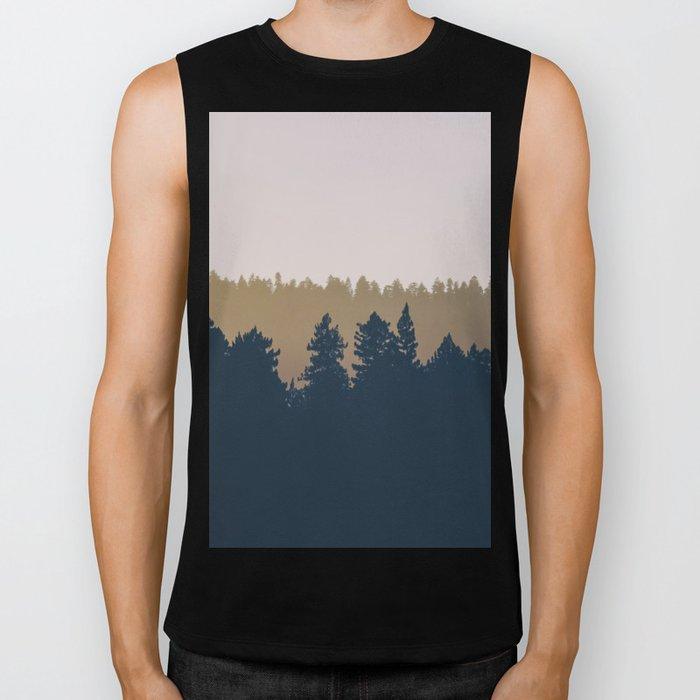 Woods Abstract Biker Tank