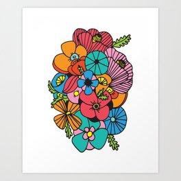 Flowers (White Background) Art Print