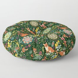 Treasures of the emerald woods Floor Pillow