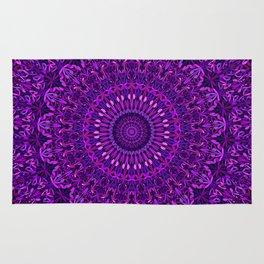 Purple Night Garden Mandala Rug