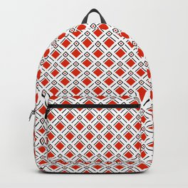 Red Diamond Golf Pattern Backpack