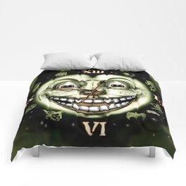 Black Cat 13 Halloween Clock Comforters