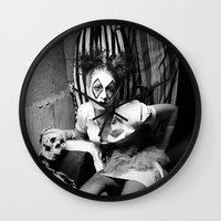 nurse Wall Clocks featuring Nurse & Clowns by Flashbax Twenty Three