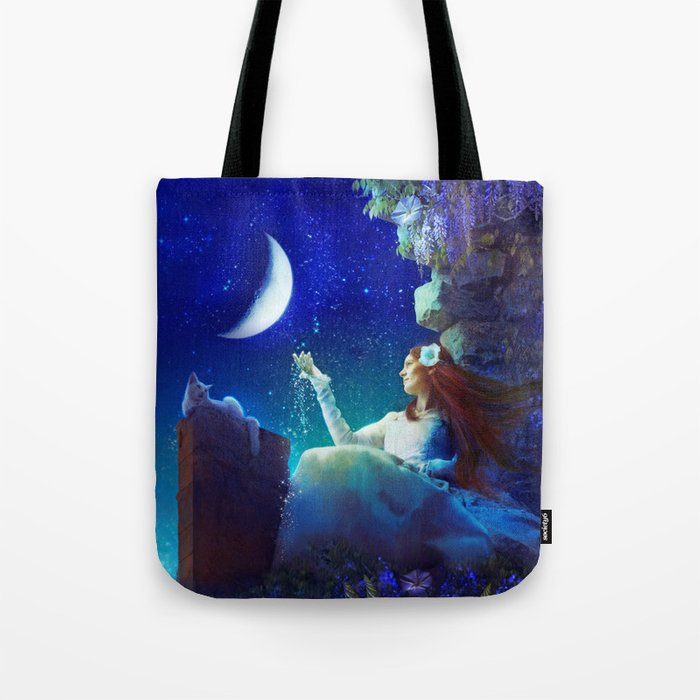 Conversation With The Moon Tote Bag