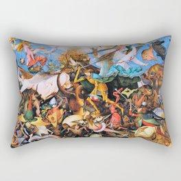 Pieter Bruegel - The Fall Of The Rebel Angels - Digital Remastered Edition Rectangular Pillow
