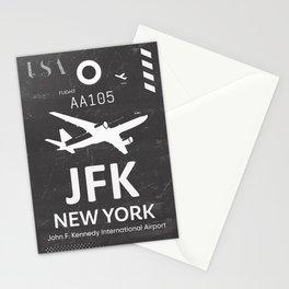 JFK Airport code New York USA Stationery Cards