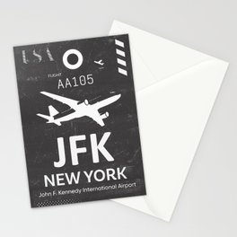 JFK Airport code New York USA Stationery Cards