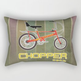 Chopper Bicycle Rectangular Pillow
