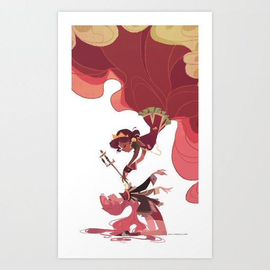 For the Rose Bride Art Print