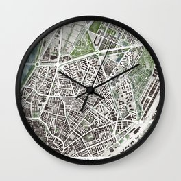 Sevilla city plan Wall Clock