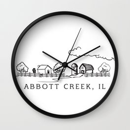 Abbott Creek IL Wall Clock