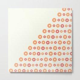 Asymmetric Floral Pattern Metal Print