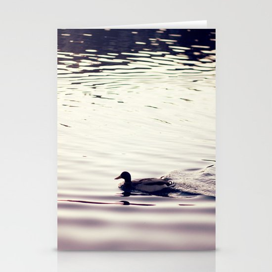 Swimming at Sunset Stationery Cards