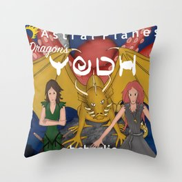 Astral Planes Dragon's Yodh Throw Pillow