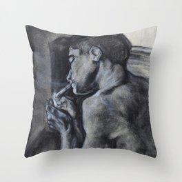 thesmokingghost Throw Pillow