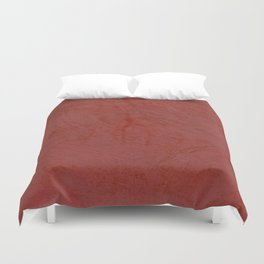 Tuscan Red Stucco - Rustic Glam Duvet Cover