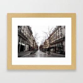A walk in Paris Framed Art Print