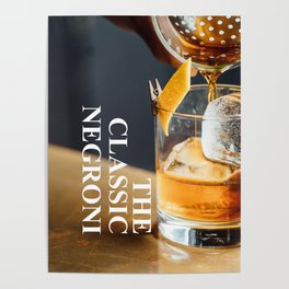 The Classic Negroni Poster