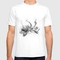 Pacific Octopus MEDIUM Mens Fitted Tee White