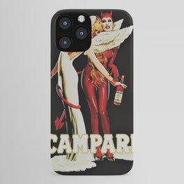 Vintage Campari Italian Bitters Aperitif Angel and Devil Advertisement Poster iPhone Case