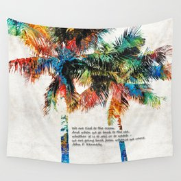 Colorful Palm Trees - Returning Home - By Sharon Cummings Wall Tapestry
