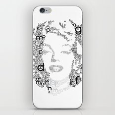 Black Letters iPhone & iPod Skin