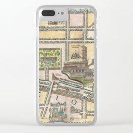 Vintage Map of Jerusalem an Solomon's Temple Clear iPhone Case