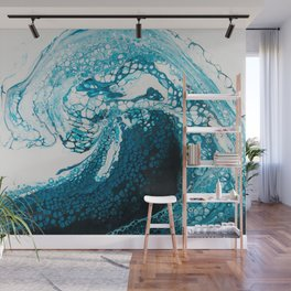 Ocean Wave Acrylic Pour Wall Mural