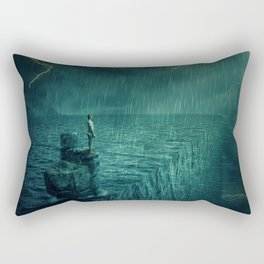 At the edge of Nothing Rectangular Pillow