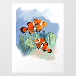 Clownfish for Sophie Art Print