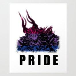 Bisexual Pride Demon Art Print