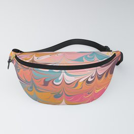 Colorful Abstract Marbled Design Fanny Pack