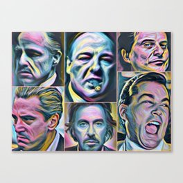 Gangsters painting movie Goodfellas Godfather Casino Scarface Sopranos Canvas Print