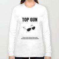top gun Long Sleeve T-shirts featuring Top Gun Movie Poster by FunnyFaceArt