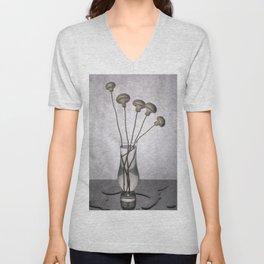 """Still life """"Bouquet of mushrooms"""" Unisex V-Neck"""
