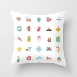 CUTE CHRISTMAS HOLIDAYS WINTER PATTERN Throw Pillow