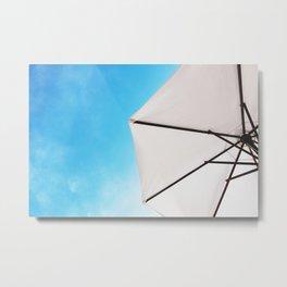 Minimalist Parasol Summer Metal Print