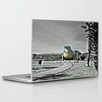 t rex Laptop & iPad Skins featuring T Rex by sepulveda89
