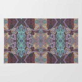 Tibetan Inspired Meditation Floral Print Rug