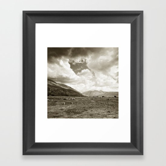 Walking on the moon Framed Art Print