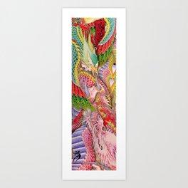 Phoenix and Dragon Art Print