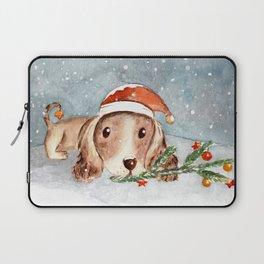 Christmas Puppy Look Laptop Sleeve